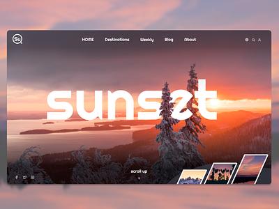 sunset website creative  design creative logo typography branding illustration algeria webdesigner uiux webdesign uidesign designer ui