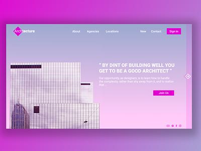 Architecture Ui web  design webdeisgn ui design turkey design logo colors animation algeria webdesigner webdesign uiux uidesign designer ui