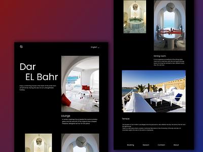 Dar el Bahr design art tunisia tunisie illustration web design designs website design architecture website homepage architecture design home design logo colors animation algeria webdesigner webdesign uiux uidesign
