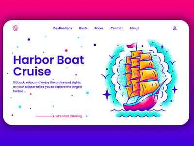 Boat Cruise typography product design mobile branding art illustraion web design design logo colors designer animation algeria webdesigner webdesign uiux uidesign ui