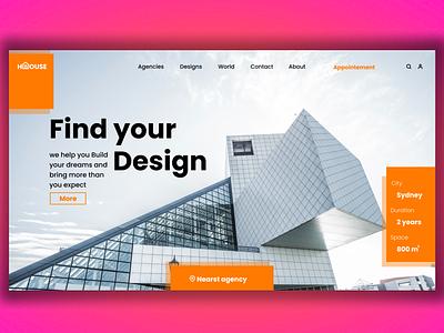 Architecture web concept product design illustrations art architecture design architecture ui design branding illustration algeria webdesigner webdesign uidesign ui
