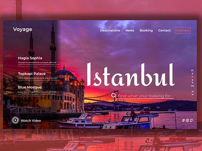 Tourism app colorful istanbul logo illustration design uiux designer animation algeria webdesigner webdesign uidesign