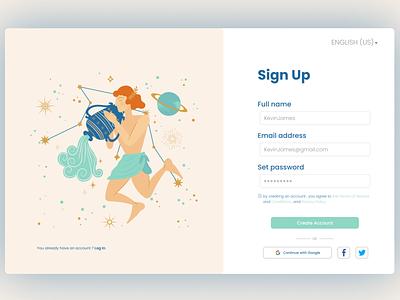 Sign up illustration uiux design logo minimalist clean sign up istanbul designer animation algeria webdesigner webdesign uidesign