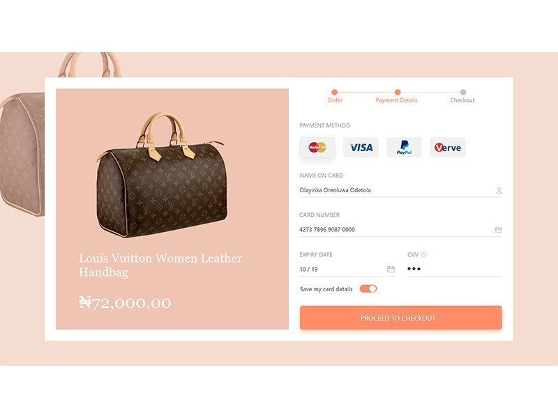 Daily UI #002, Credit card checkout page dribbble adobe xd uiux design daily ui credit card checkout page female designers in nigeria
