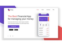 Daily UI challenge #003, Landing page