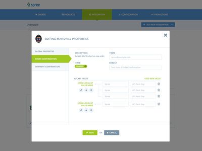One of the UIs for spree extension form modal ui admin extension open source e-commerce front spreecommerce spree