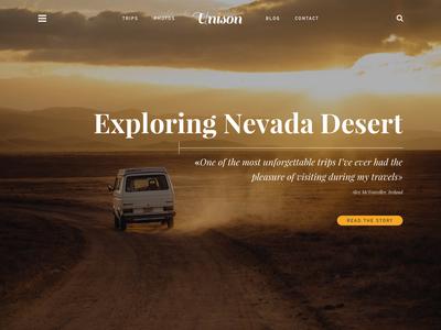 Unison UI Kit, WIP unison travel ui ui kit typography background image header