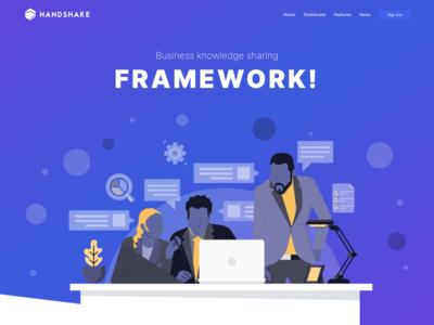 Handshake Homepage front hero homepage ui landing