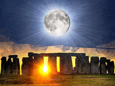 Lune - Soleil moon sun design print