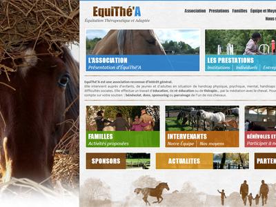 Equithé-A webdesign