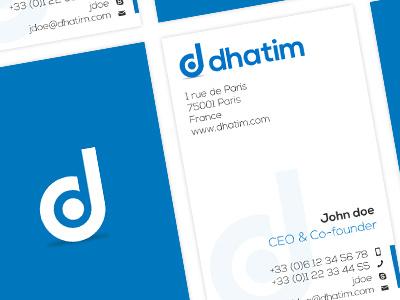 Dhatim Cards branding business card