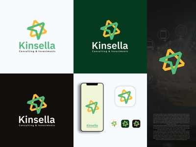 Consulting and Investment company Logo design k logo consulting trendy logo simple logo modern logo minimal logo brand style guide style guide illustration logo design minimal design typography branding graphic design logo logo maket logo designs consulting logo invesment logo
