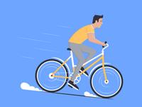 Awheel vector texture man boy reder ride illustrator illustraion faster character bike bicycle