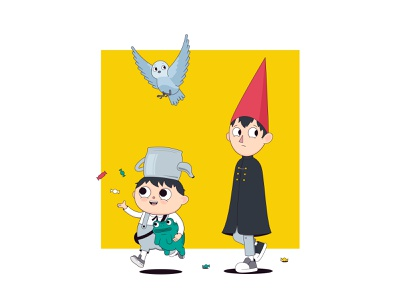 Character Design boy frog bird over the garden wall cartoon vector funny illustraion character design character illustrator illustration
