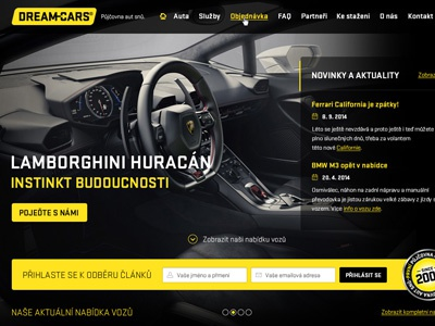 DREAM-CARS web redesign