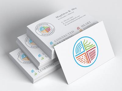 Providentia Enterprises Logo books morse code college conceptual design vivid e-learning education businesscard branding design logo elegant typography simple