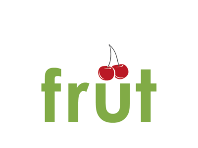 Früt: A Conceptual Image logo a day illustration icon icons lime green organic produce elegant simple design simple type art umlaut typography cherry fruit five minutes exercise conceptual concept