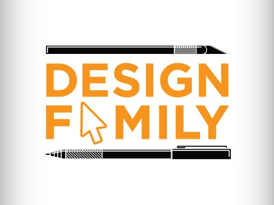 You never design alone... simple typography conceptual illustration logo a day vector pen vivid family mentors inspiration design teamwork community gotham refelction empowering