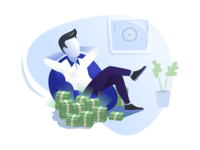 Relaxed investor illustration