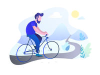 Bike ride illustration