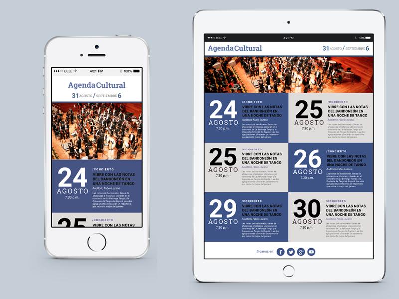 Agenda Cultural / Newsletter Interface news design helvetica typography mail interface ui newsletter