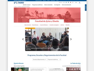 Facultades /  Faculties | Utadeo
