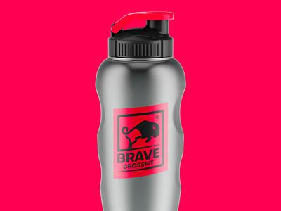 Brave CrossFit animal logo sports branding bottle brave buffalo crossfit sports design logo branding