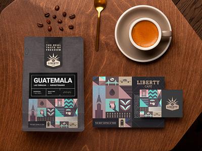 Liberty café / Brand identity statueofliberty barista new york coffeeshop coffee nyc liberty design logo branding