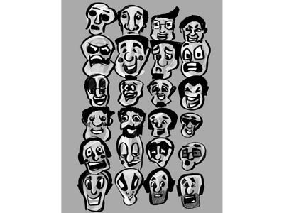 24 min Drawing Challenge procreate app expressions quick sketch character design face procreate exercise drawing challenge