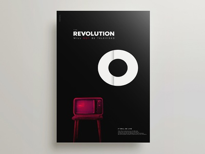 The Revolution Will Not Be Televised minimalism poster