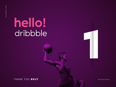 hello dribbble! hello dribble debut