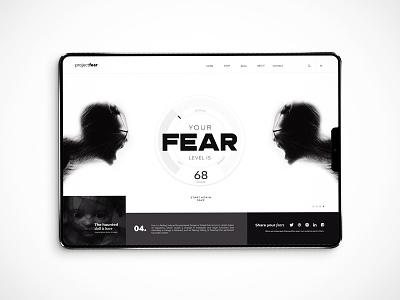 Fear-o-meter home page design concept website webpage webdesign web ux ui