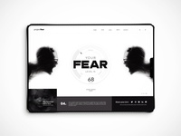 Fear-o-meter home page design concept
