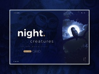 Night Creatures website design concept
