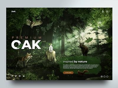 Oak Vodka website design concept ui digital website webdesign