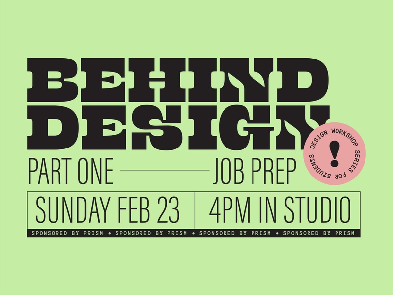 Workshop Poster condensed type large type bold color green poster design flyer bold type color bold typography type workshop designer logo poster design visual design