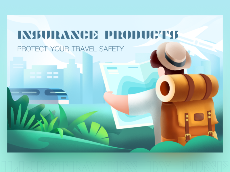 Insurance Products #2 color travel ps sketch illustration design