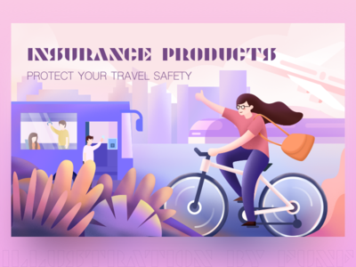 Insurance Products #3 design car ps sketch color illustration