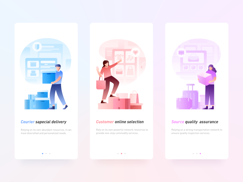 Guide page page guide ps illustration design app ui
