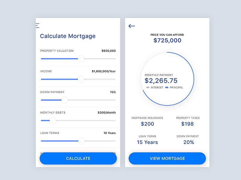 mortgage calculator ui by angelia wijaya dribbble dribbble