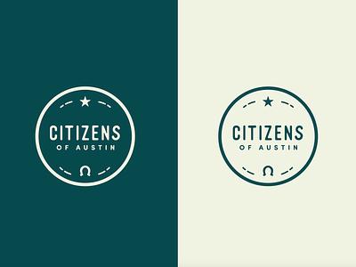 "Citizens of Austin  ""Simple"" local atx austin round badge simple horseshoe texas texan simple badge"