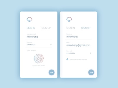 Daily UI #001 – Mhome Sign Up Mobile App finger scan mhome ui mobile app sign up daily ui 001 dailyui001