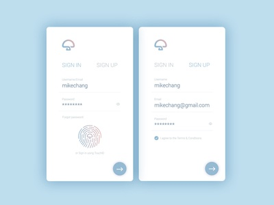 Daily UI #001 – Mhome Sign Up Mobile App