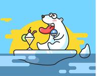 white bear illustration