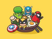 Super Hero-Illustrations