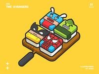 The Avengers—Illustrations of sushi