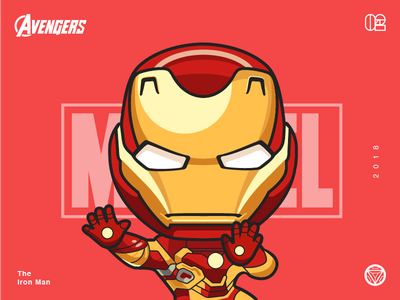 The Avengers-Iron man-illustrations yellow super illustrations hero ironman color avenger