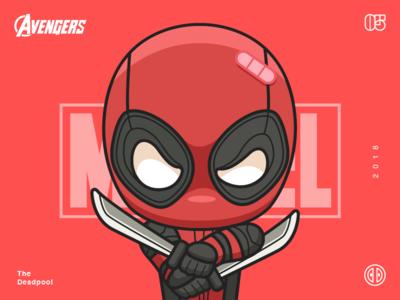 The Avengers-Deadpool-illustrations super red deadpool number man illustrations hero color avenger