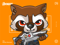 The Avengers-Rocket Raccoon-illustrations