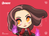 The Avengers-Scarlet witch-illustrations